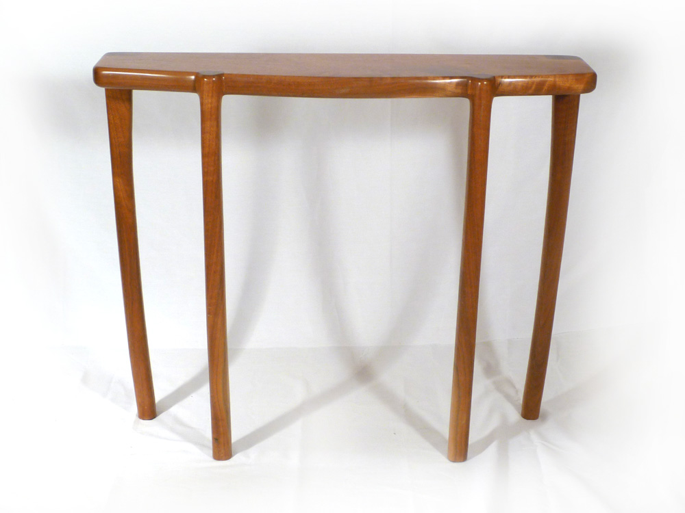 Bowfront entryway table e c connor sculptural for Entryway furniture