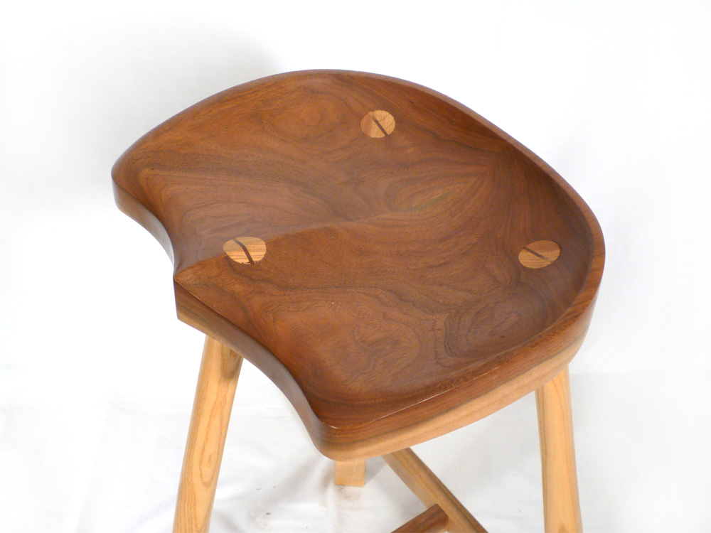 At the bar or any counter this deep-carved tractor seat stool ...  sc 1 st  EC Connor Sculptural Furniture Design - WordPress.com & Tractor Seat Stool | E. C. Connor Sculptural Furniture Design islam-shia.org