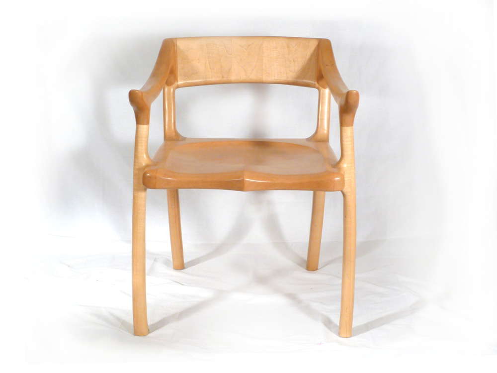 Maloof Inspired Lowback Chair E C Connor Sculptural