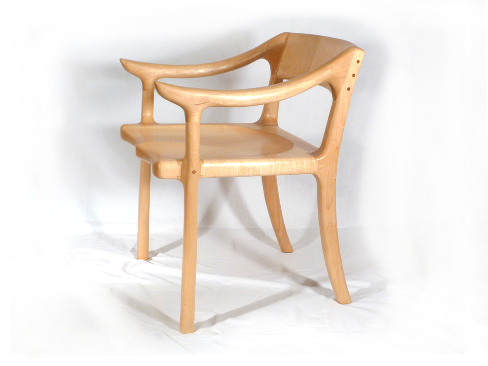 Inspired Lowback Chair E C Connor Sculptural Furniture Design